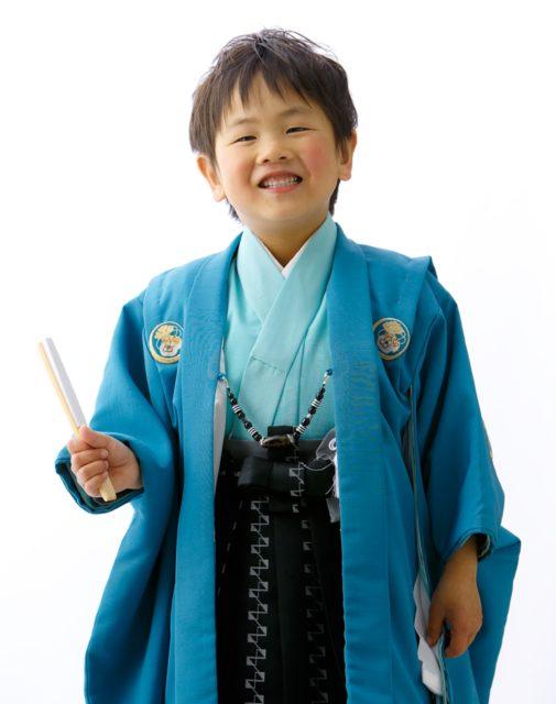 七五三「袴で」
